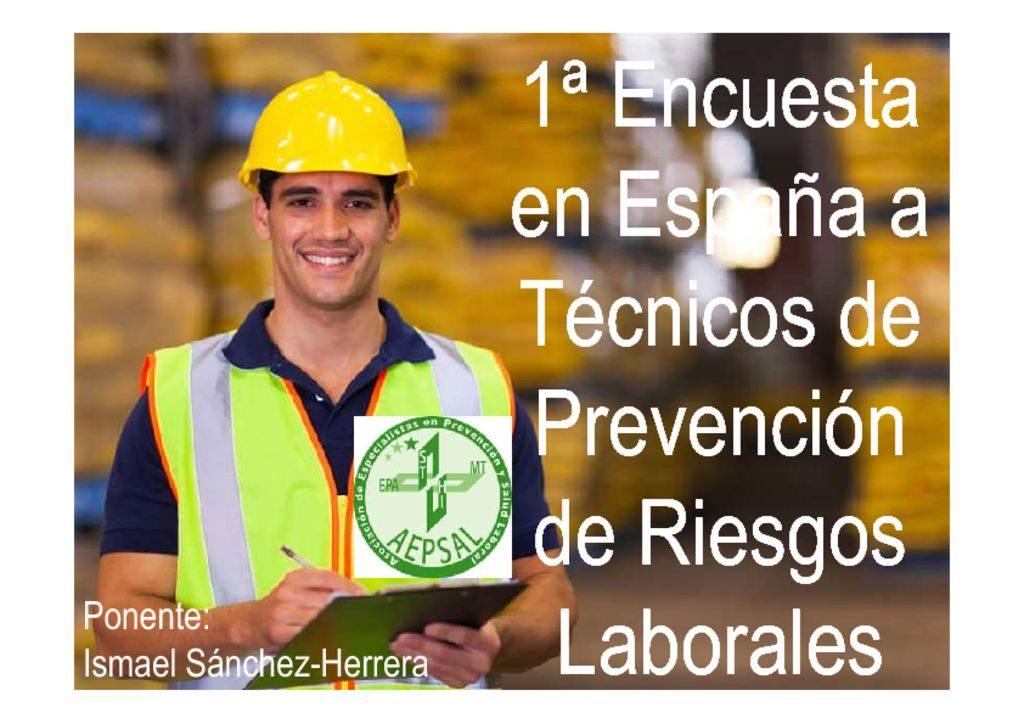 thumbnail of 16 – Ismael Sanchez 1ª EncuestaEspañaTecnicos PRL- V Congreso.
