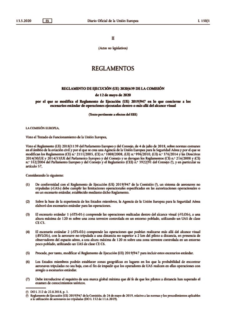 thumbnail of reglamento-ejecucion-639-2020-modifica-reglamento-947-2019-droneuropa